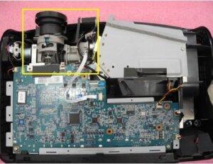 OPTOMA HD25 INSIDE VIEW