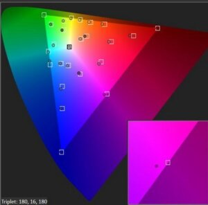 SONY VPL-HW40ES COLOR CHECKER