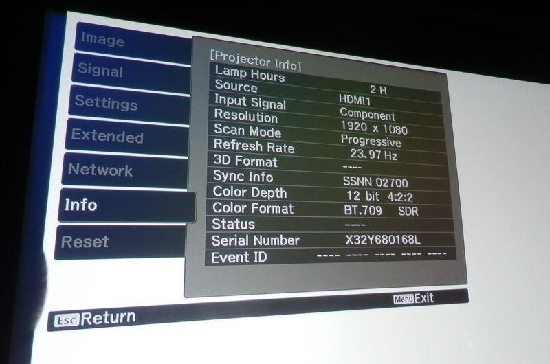 EPSON EH-TW9300 (YCbCr 12 bit )
