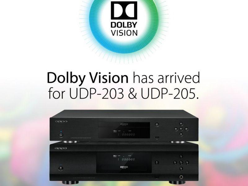 OPPO UDP-203 & UDP-205 Dolby Vision Firmware Update